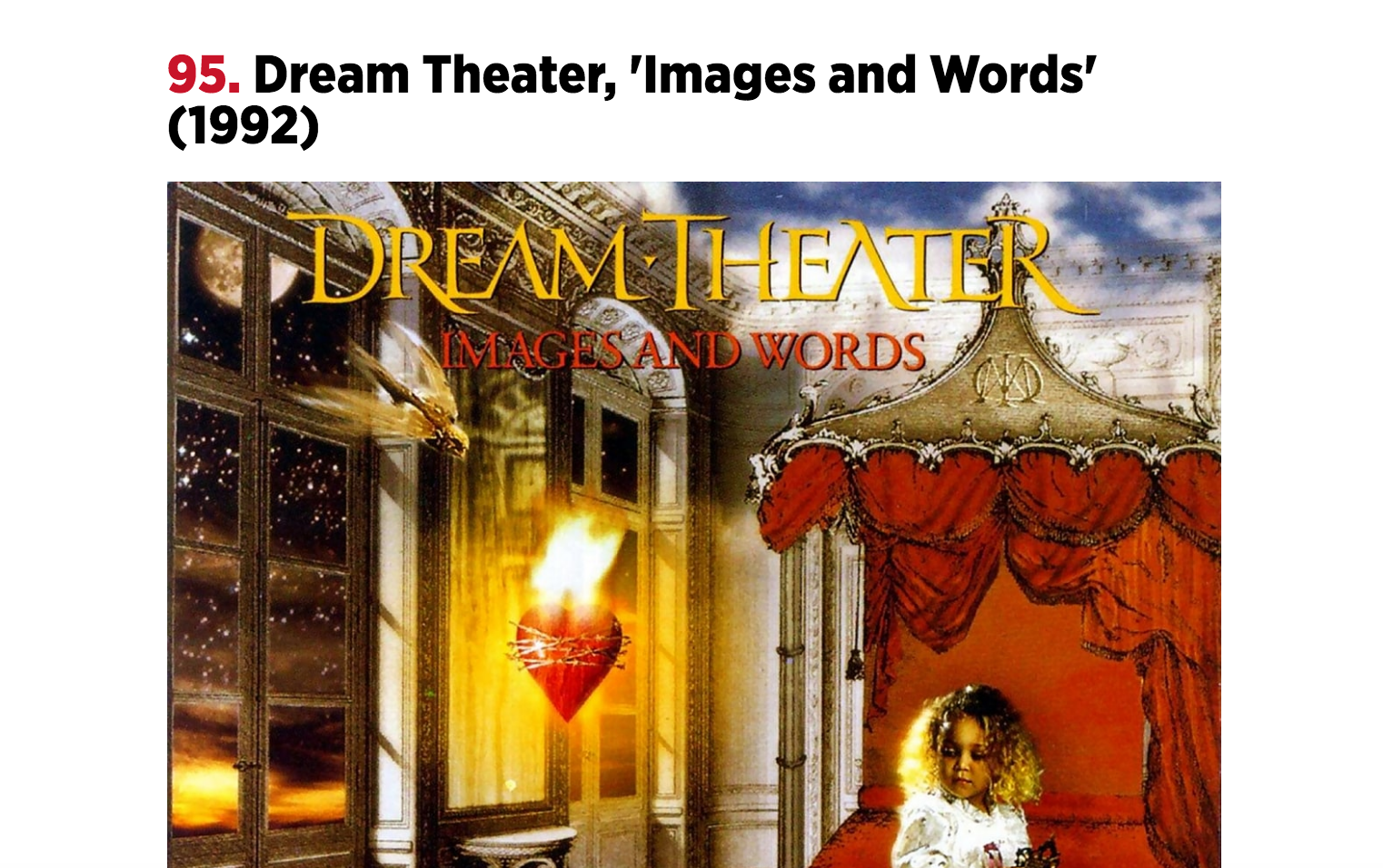 Dream Theater, Opeth, and Queensryche rank in Rolling Stone's Top 100 Metal Albums List