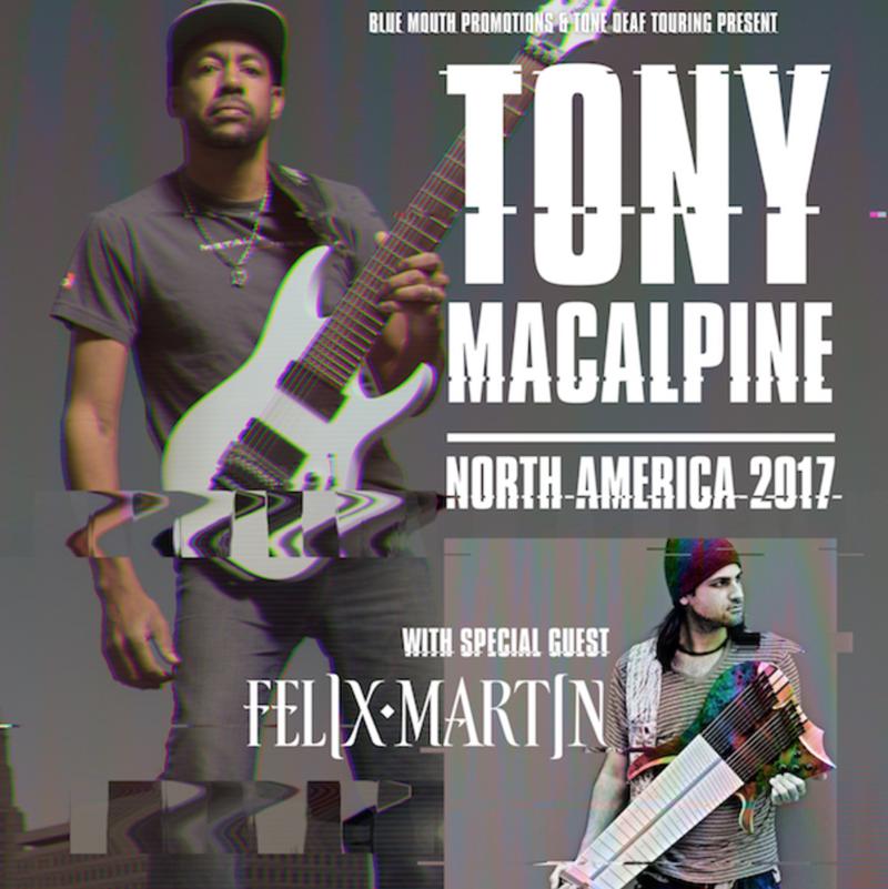 Tony MacAlpine announces 2017 tour dates
