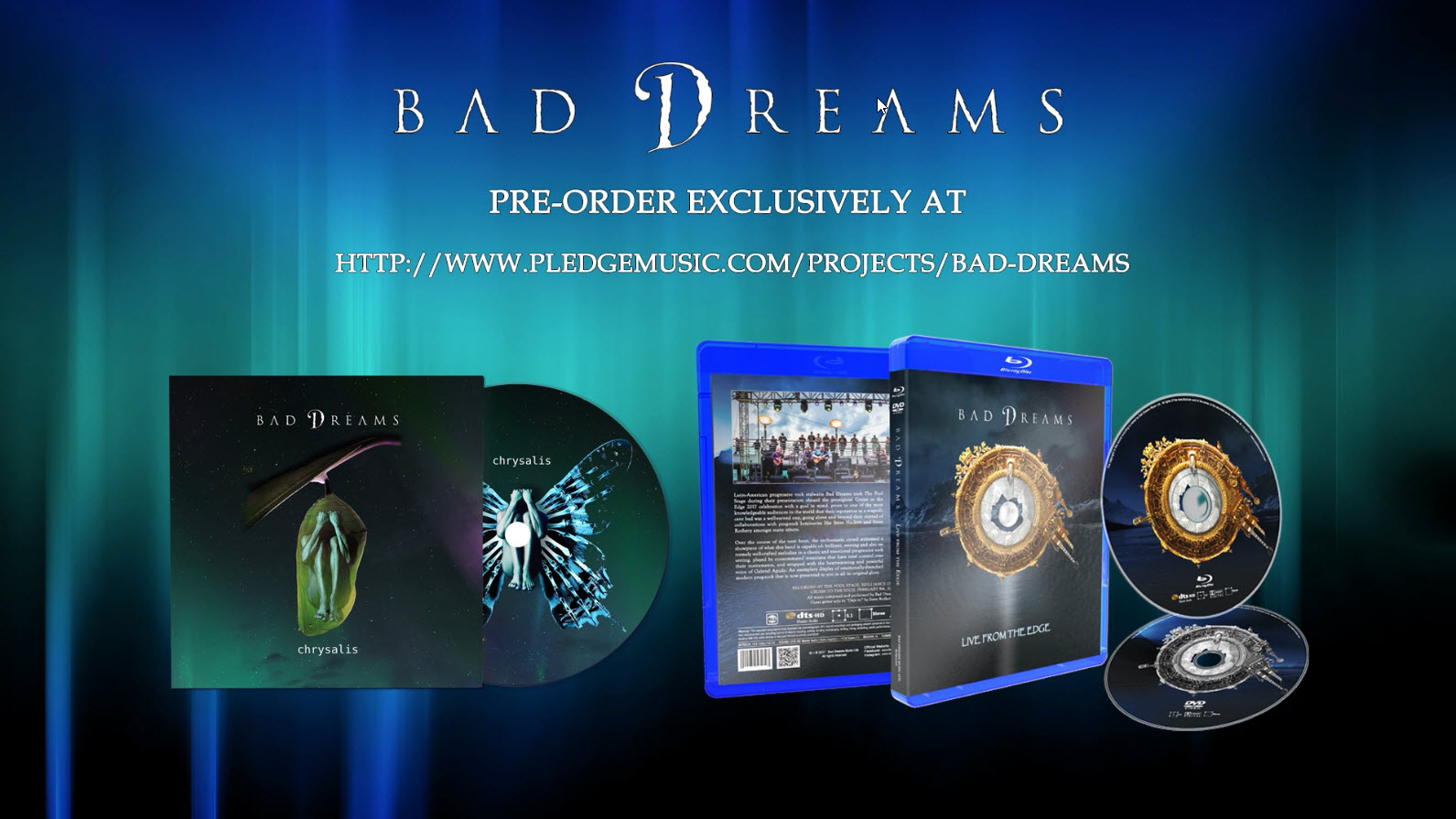 "Bad dreams teams up with PledgeMusic for the release of their new record ""Chrysalis"""