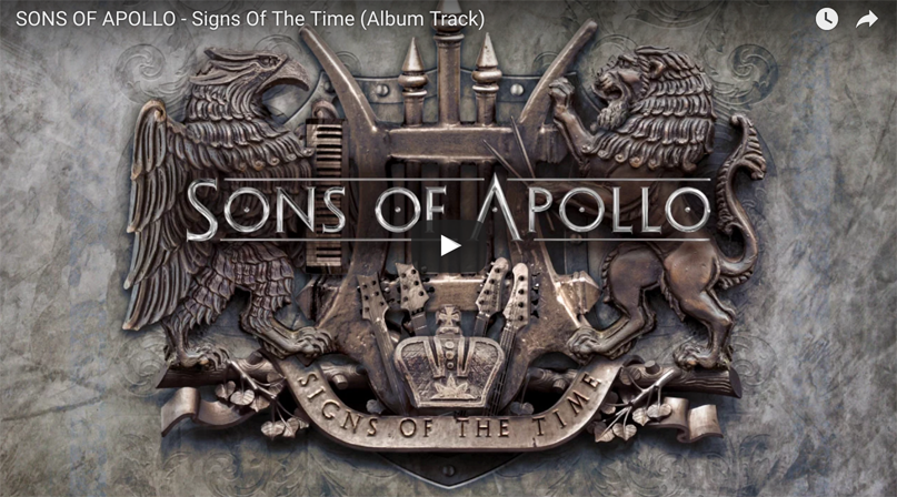 "Sons of Apollo release debut track ""Signs of the Time"""