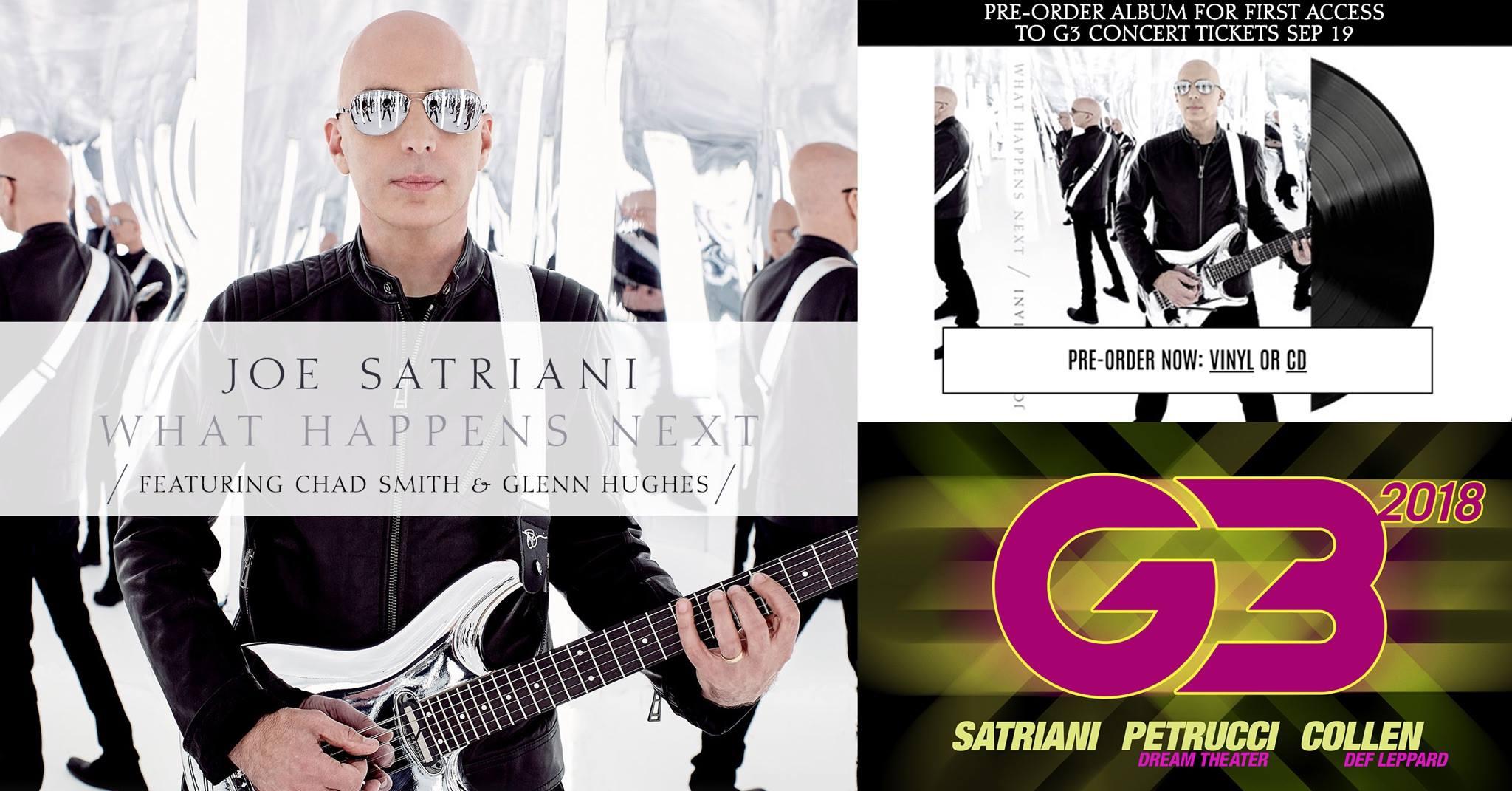 Joe Satriani announces new album and G3 tour with Petrucci and Collen