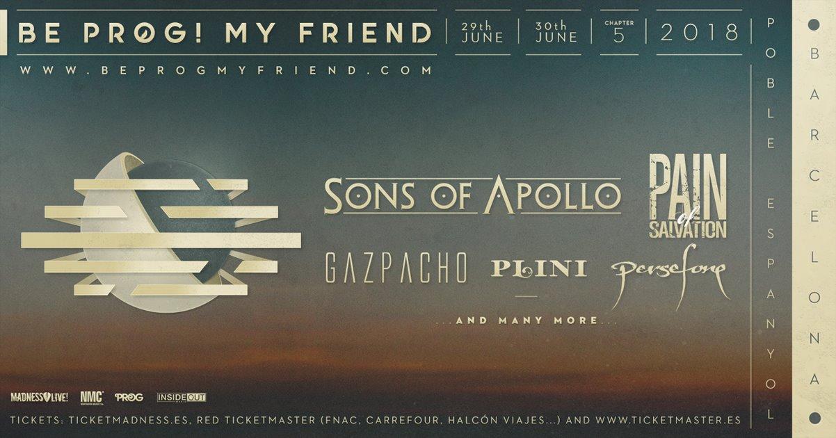 Gazpacho, Persefone added to Be Prog! My Friend festival.