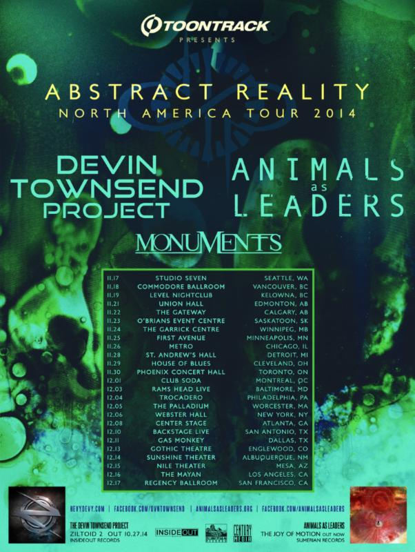 devin townsend animals as leaders