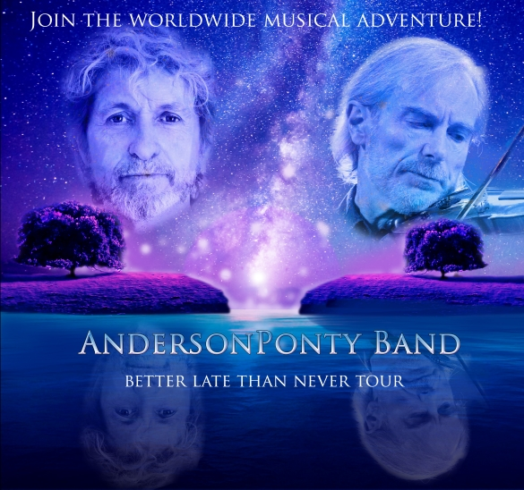"Jon Anderson & Jean Luc Ponty To Release New CD/DVD ""Better Late Than Never"""