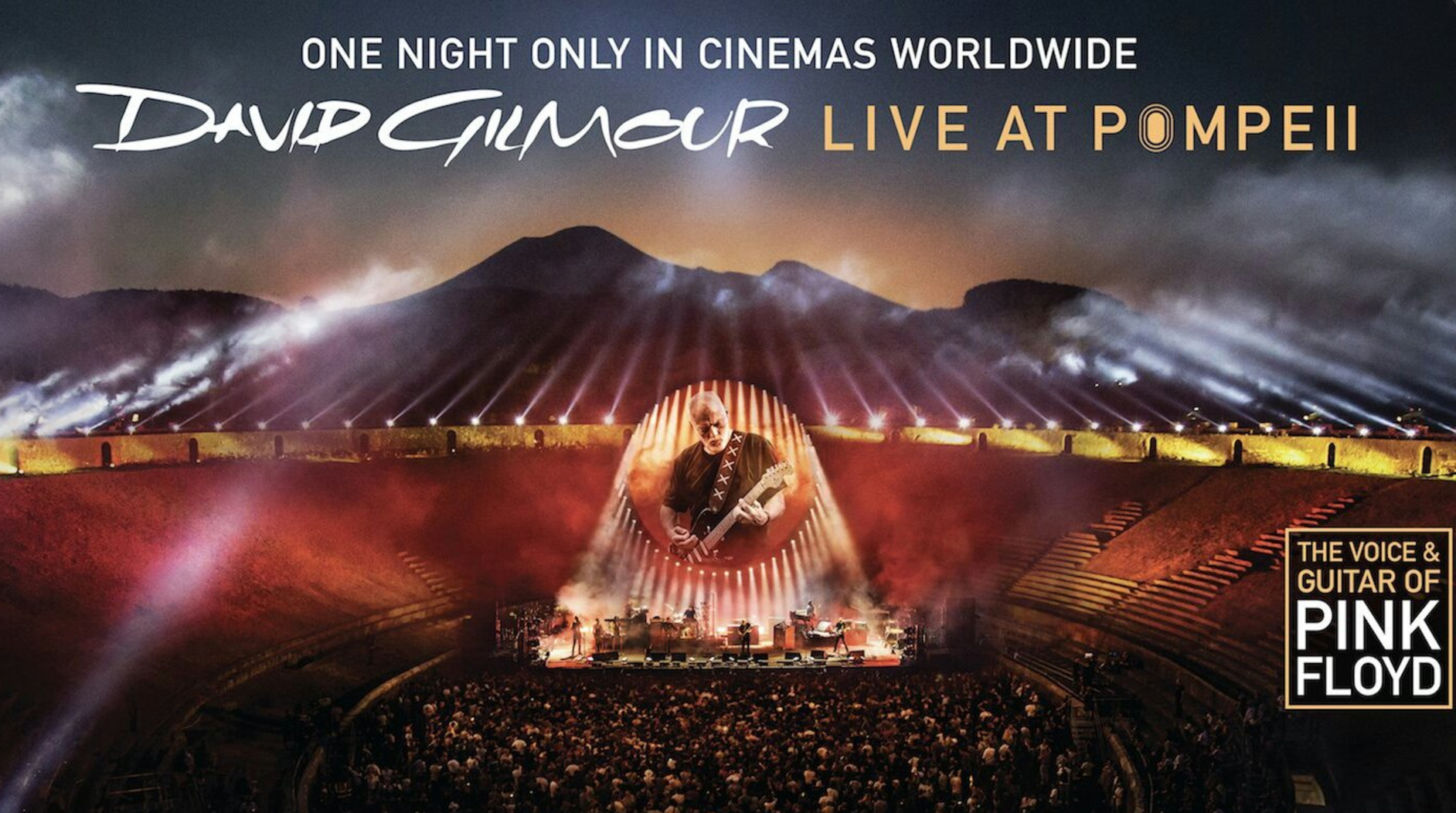David Gilmour to screen 'Live at Pompeii' in theaters